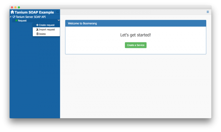 Quickstart on Using the Tanium Server SOAP API