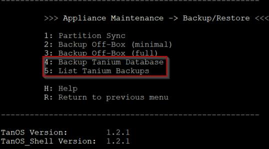 Tanium Release Spotlight – TanOS 1.3.x